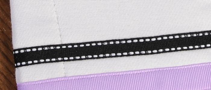 Lavender / Black White Stitch