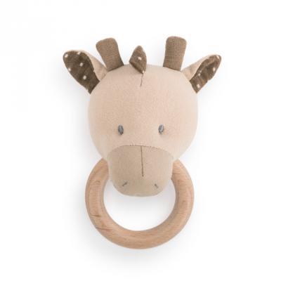 Linen giraffe rattle