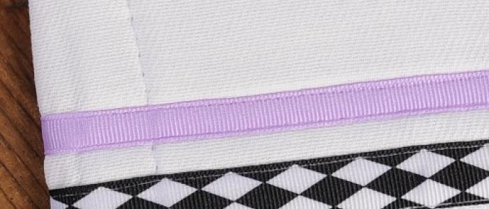 Black White Harlequin / Lavender