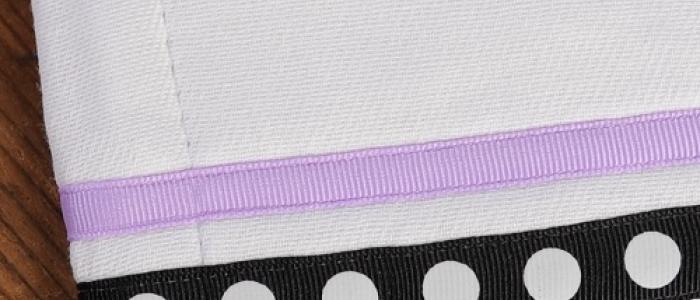 Black Single White Dot / Lavender