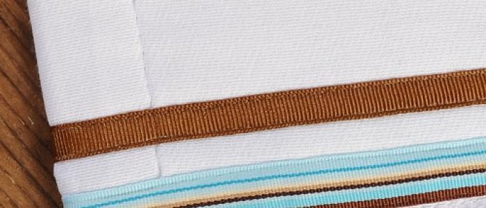 Light Aqua Chocolate Stripe / Chocolate