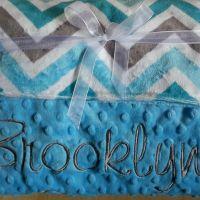 Turquoise Chevron/ Turquoise Bump