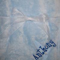 Light Blue/Royal Blue Thread