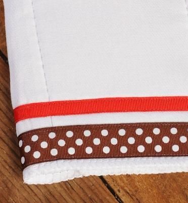 Dark Chocolate White Multi Dot / Red