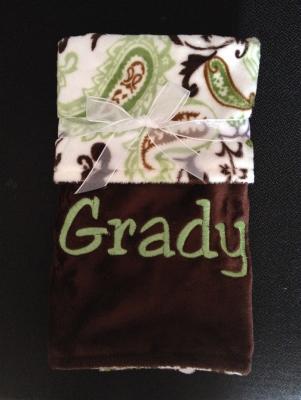 Green Paisley/Dark chocolate